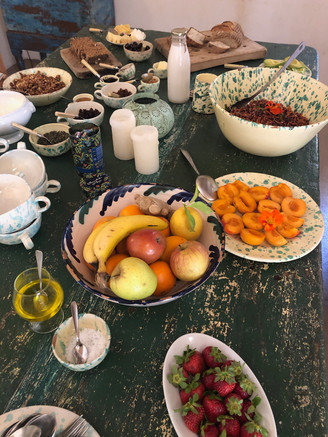 healthy vegetarian/vegan brunch