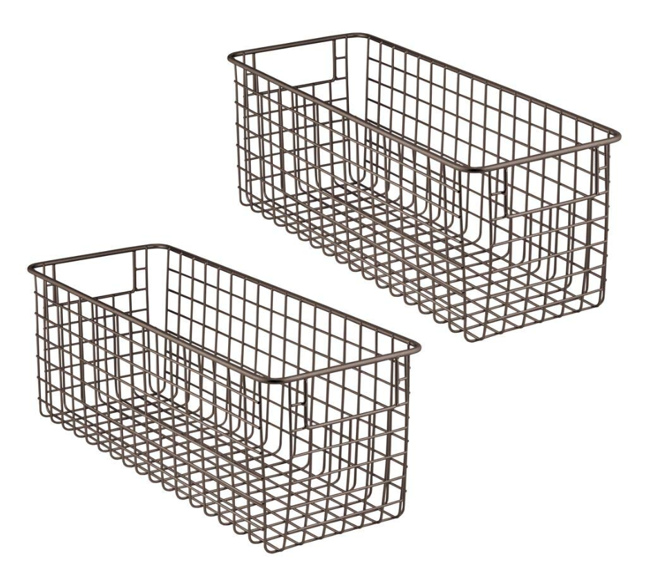 mDesign Wire Basket with Handles