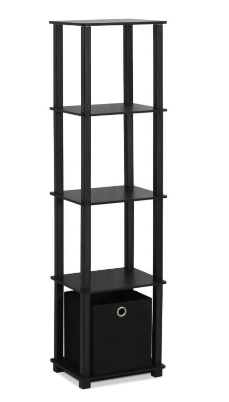 FURINNO Decorative Shelf With Bin