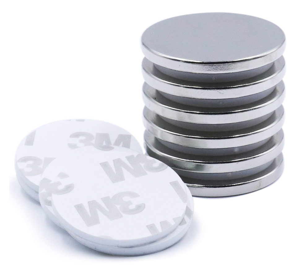 Disc Magnets with Double-Sided Adhesive