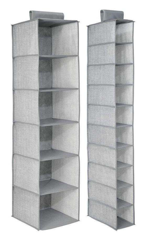mDesign Fabric Over Rod Hanging Storage