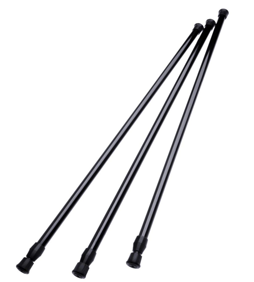 Hotop 3-Pack Tension Rods