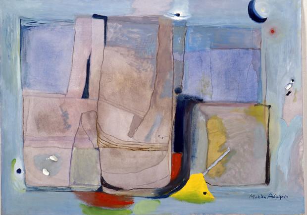 Магда Абазова КОМПОЗИЦИЯ С ЛУНА, маслени бои, платно; 1999