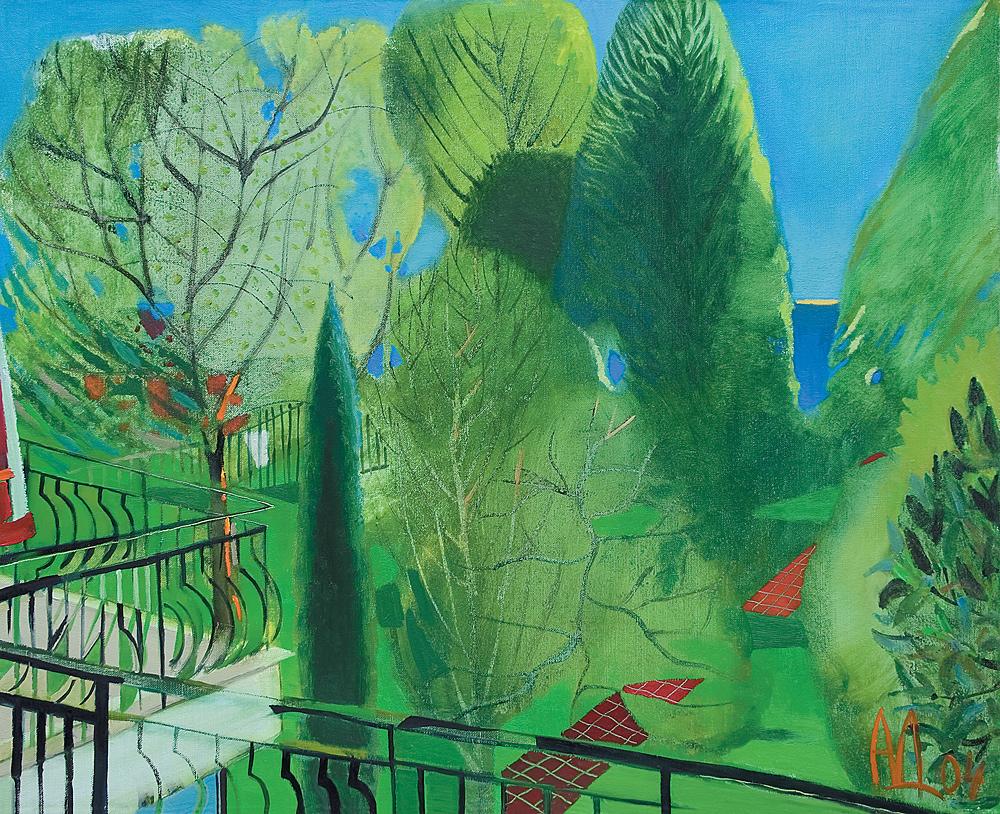 ХОТЕЛ МАГНОЛИЯ ІI, маслени бои, платно; 60х50; 2004
