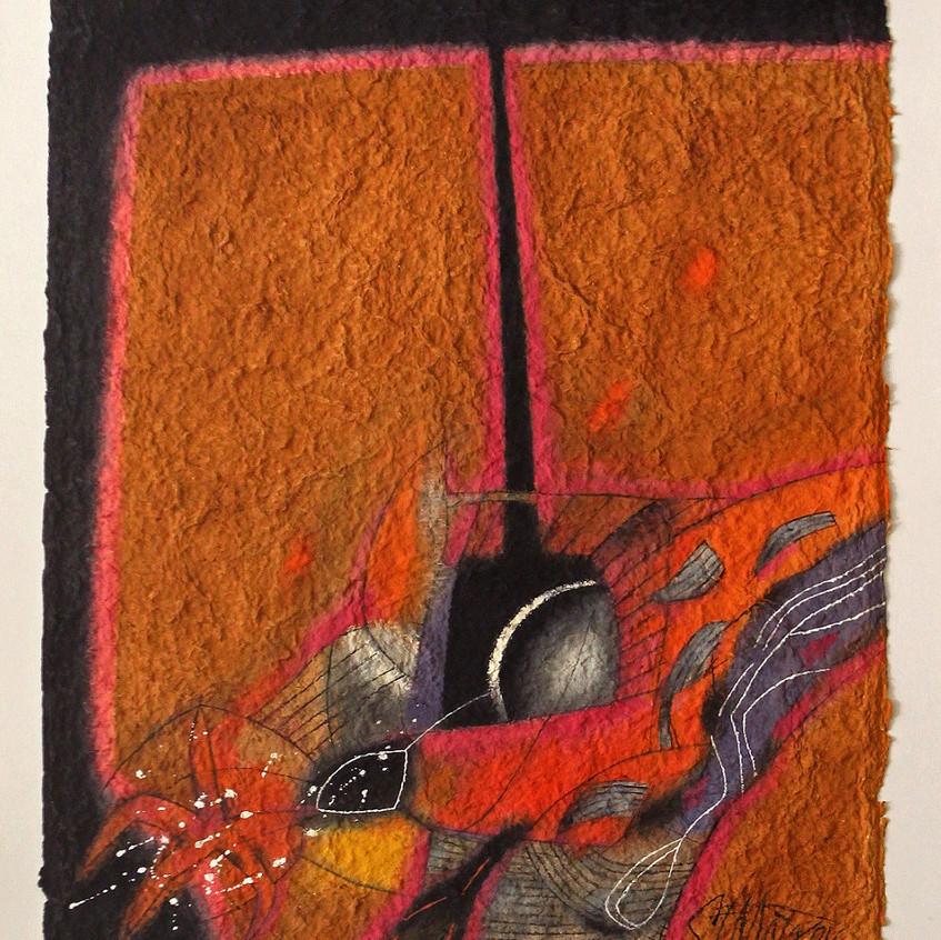 В светлината на фара, 2000, акварел, ръч