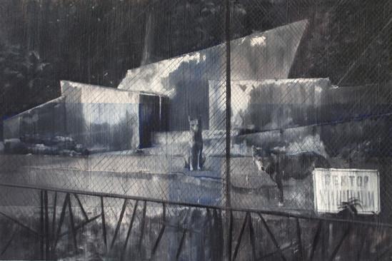 Петър Минчев. ВЪЛЦИ (Спри своите действия и изчакай за моя сигнал), акрил, масло, платно, 94х146, 2011