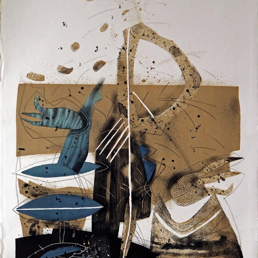 В светлината на фара III, 1997, литограф