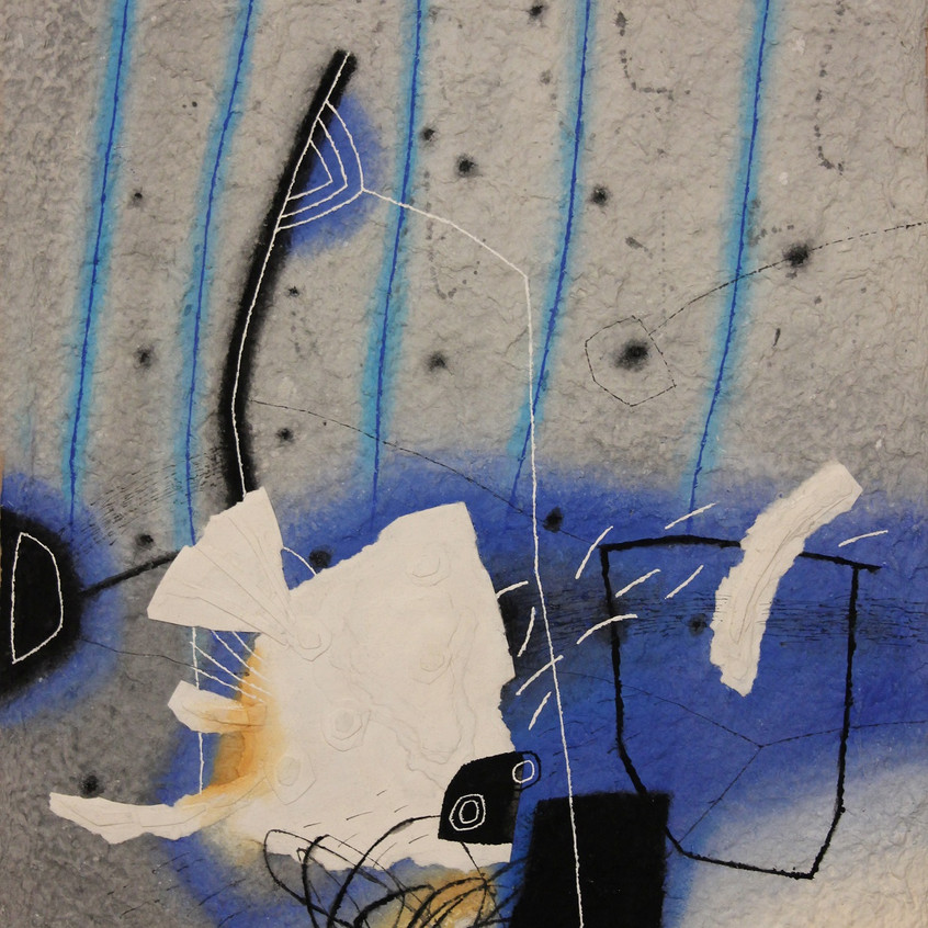 Морско дъно, 2000, акварел, ръчна хартия