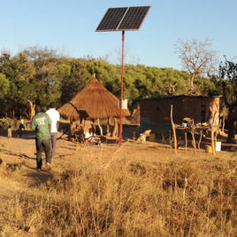 In 2020 solar powered water pump installed