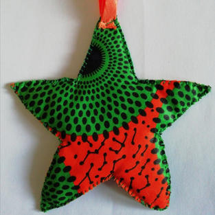 Hand sewn cloth star £1