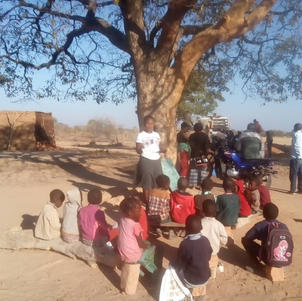 lessons under a tree before we built classrooms