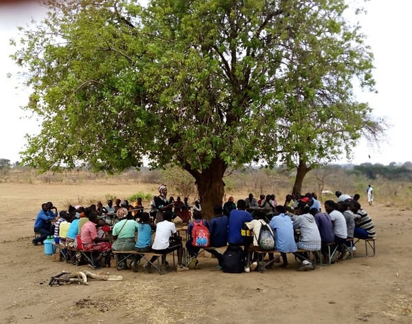 Human rights training in a rural village