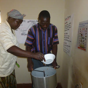we gave a peanut butter machine to generate income