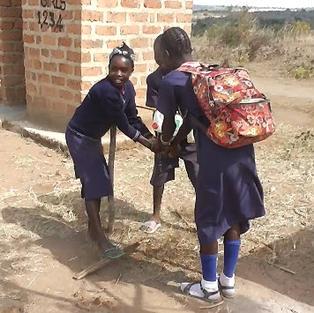 Hand washing training