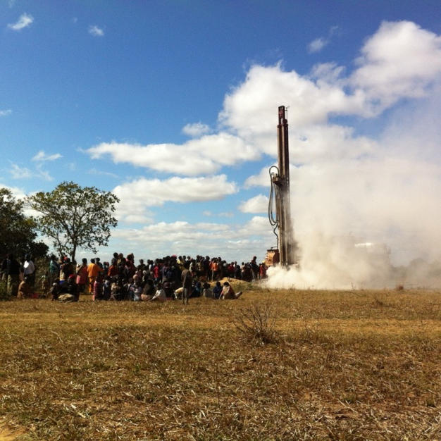 We drilled 2 dry bore holes