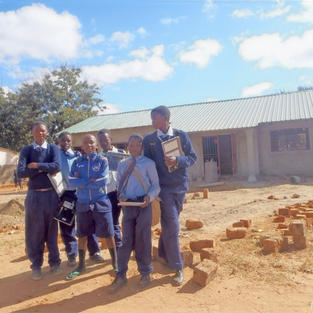 Pupils waiting for new classrooms