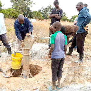22nd June 2021 fitting a hand pump on the borehole