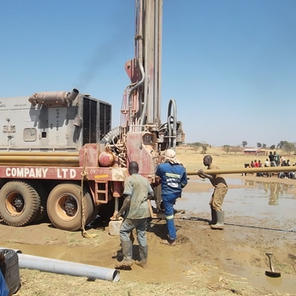 In 2014 we drilled a bore hole to provide water.