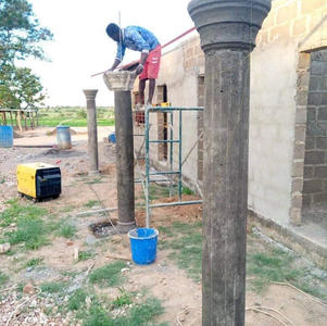 December 2020 building started with adding pillars