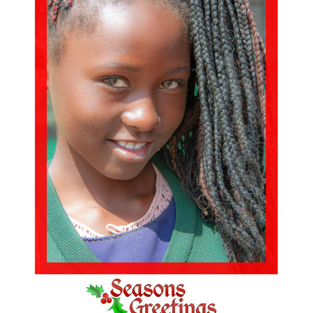 Christmas card front page