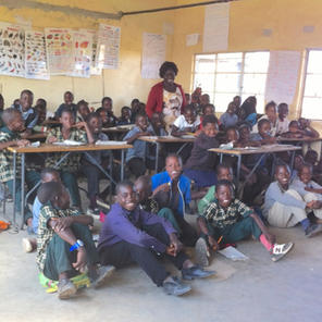 Over 100 children in a classroom