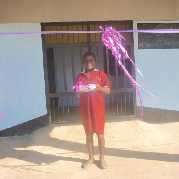Ribbon ready to open school