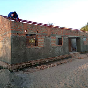 April 2021 the incomplete 2 classrooms community built