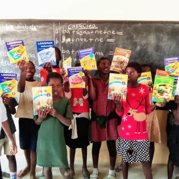 We donated curriculum books