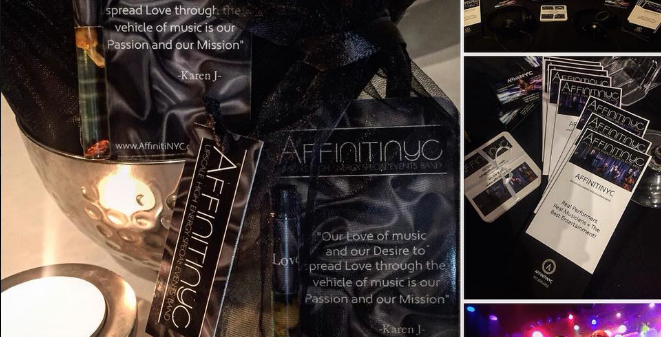 Promos For Affinitynyc Event Band made with Love Oil