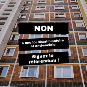 Communiqué de presse: Non à une loi discriminatoire et anti sociale
