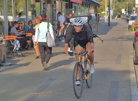Oui aux vélos – mais sans mettre en danger les piétons !