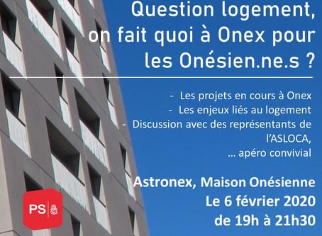Question logement On fait quoi à Onex pour les Onésien.ne.s ?