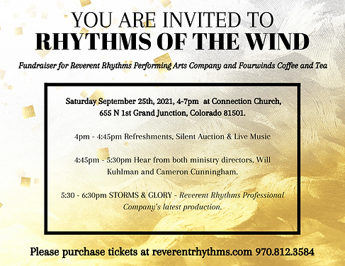 Fundraiser for Reverent Rhythms Non Profit Performing Arts Company and Fourwinds Coffee an