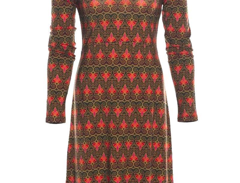 "LaLamour  High  Dress ""Twenty"" Green Red"