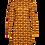 Thumbnail: LaLamour Flared Dress Turtle Neck Seventies Orange