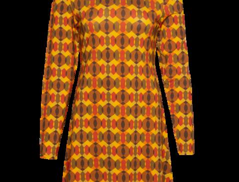 LaLamour Flared Dress Turtle Neck Seventies Orange