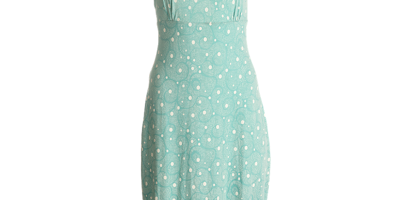 "LaLamour Dress ""Dotty""Classic Tuquoise"