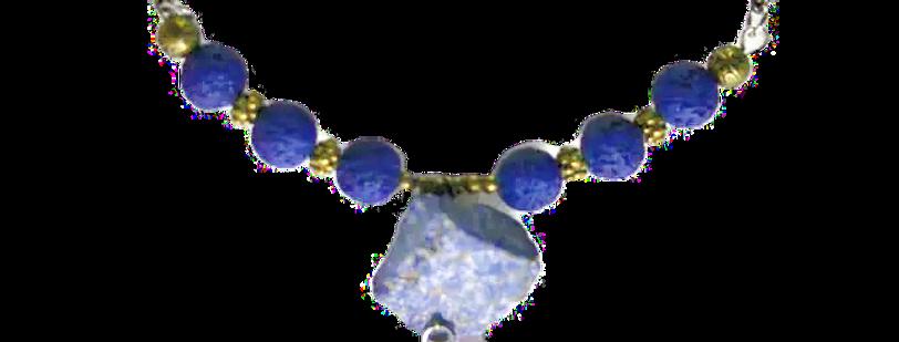 Boho Choker Lapis Lazuli & Lava