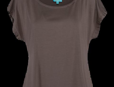 LaLamour Loose Shirt Plain Taupe