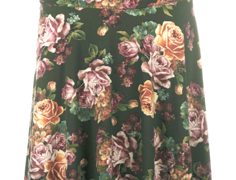 LaLamour Skirt Roses Green