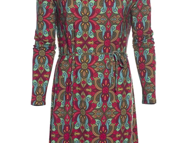 "LaLamour Tunic  ""Oriënt"" Dress Long Sleeve Green"