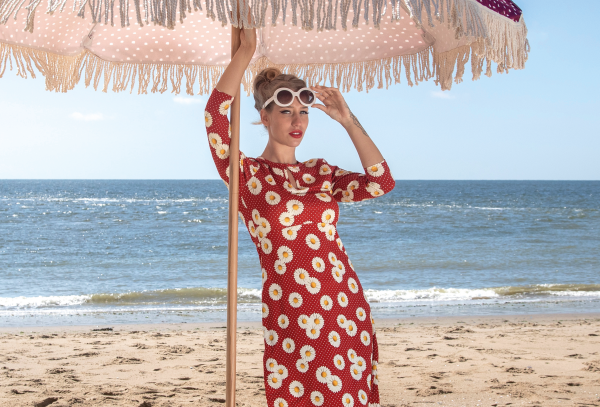 LaLamour Daisy Dress Red