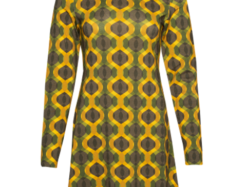 LaLamour Flared Dress Turtle Neck Seventies Sun