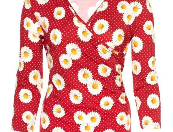 LaLamour Daisy Wrap Shirt Red
