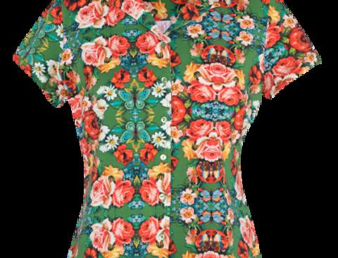 LaLamour Blouse Short Sleeves Rose Green