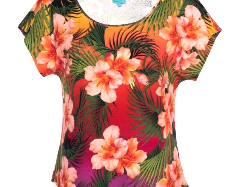 Lalamour Loose Shirt Tropical Sunset