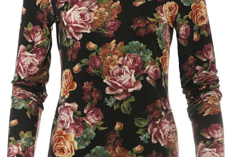 LaLamour Roses Top Black