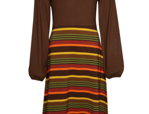 LaLamour Flared Dress Peffed Sleeves  Retro