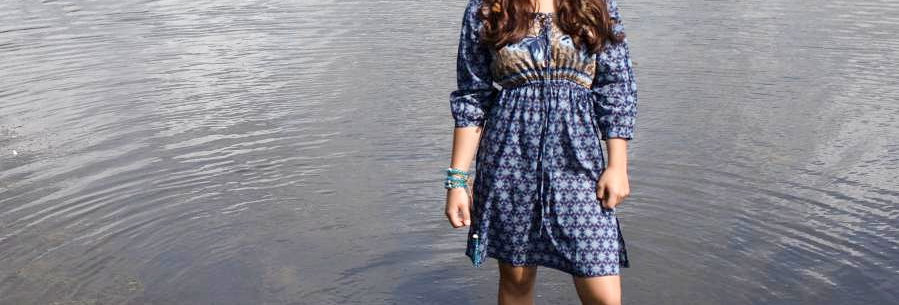 LaLamour Butterfly Dress Blue