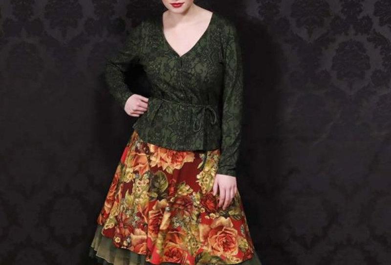 LaLamour 'Rose Skirt' Bordeaux